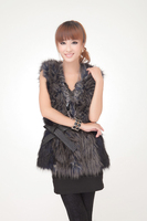 Leather belt fashion normic 3 wool patchwork fur vest hm 6 full