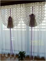 Занавеска Rustic window treatment Balloon blackout curtains Purple sheer cafe curtain ribbon string curtains cheap sheer curtains