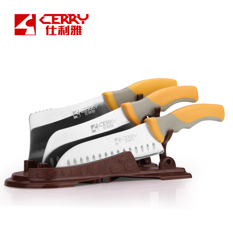 Buy Free Shipping CEERY Kitchen Chef 4 PCS Set Stainless Steel Chop Bone Knife Slicing Cleaver Knife Vegetable Fruit Knives cheap