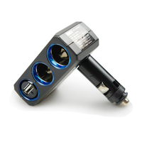 Прикуриватель в авто Fast shipping Yac car cigarette lighter belt usb with light car folding cigarette lighter socket