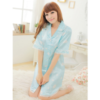 Женские ночные сорочки и Рубашки Core shirt women's sleepwear nightgown female temptation loose elegant sexy shirt sleepwear dress lounge
