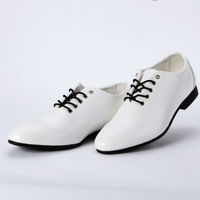 FREE SHIPPING Wedding dress white pointed toe leather fashion male shoes male casual shoes