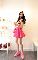 2013 women's summer multicolor fashion all-match vest basic clothes strapless skirt