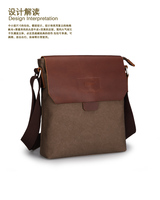 Free lots 1pcs new hot  male shoulder canvas messenger bag relaxation casual business men's bag gift