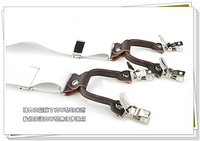 Мужские подтяжки Kangdai male clip suspenders a-1-6-083 white gift box genuine leather folder