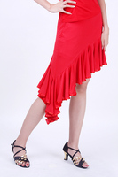 Женская одежда Latin dance skirt beautiful symmetrical oblique skirt Latin skirt practice skirt performance dress s8081