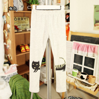 Брюки для девочек spring and autumn girls clothing trousers cat baby child trousers legging 6605