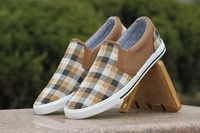 Мужские кроссовки 2012 horse plaid male foot wrapping canvas shoes men