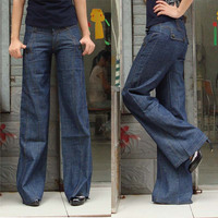 Женские джинсы 2013 615 butt-lifting wide leg pants casual jeans female loose women's plus size trousers